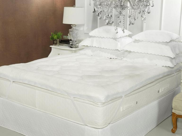 Pillow Top efeito Pele de Carneiro Queen Fibra Siliconizada Super Volumosa 600 gramas/m² - Sherpa - Dui Design