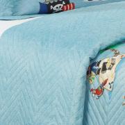 Kit: 1 Cobre-leito Casal Kids Bouti de Microfibra PatchWork Ultrasonic + 2 Porta-travesseiros - Piratas - Dui Design