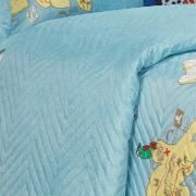 Kit: 1 Cobre-leito Solteiro Kids Bouti de Microfibra PatchWork Ultrasonic + 1 Porta-travesseiro - Piratas - Dui Design