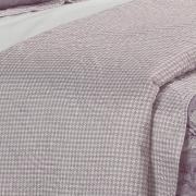 Kit: 1 Cobre-leito Solteiro Bouti de Microfibra Ultrasonic Estampada + 1 Porta-travesseiro - Poliana Albergine - Dui Design