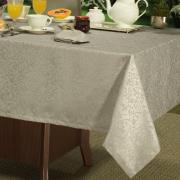 Toalha de Mesa Fácil de Limpar Retangular 6 Lugares 160x220cm - Polka Bege - Dui Design