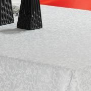 Toalha de Mesa Fácil de Limpar Retangular 6 Lugares 160x220cm - Polka Branco - Dui Design