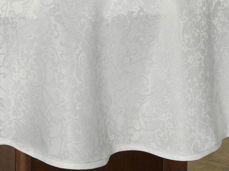 Toalha de Mesa Fácil de Limpar Redonda 160cm - Polka Branco - Dui Design