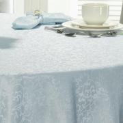 Toalha de Mesa Fácil de Limpar Redonda 220cm - Polka Jeans - Dui Design