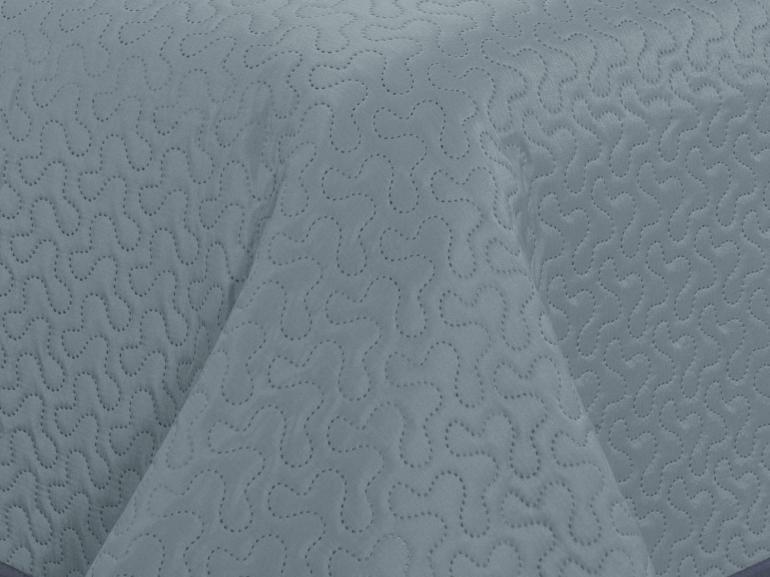 Kit: 1 Cobre-leito Casal Bouti de Microfibra Ultrasonic + 2 Porta-travesseiros - Polka Jeans - Dui Design