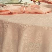 Toalha de Mesa Fácil de Limpar Redonda 160cm - Polka Nude - Dui Design