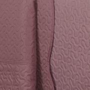 Kit: 1 Cobre-leito Solteiro Bouti de Microfibra Ultrasonic + 1 Porta-travesseiro - Polka Rosa Velho - Dui Design