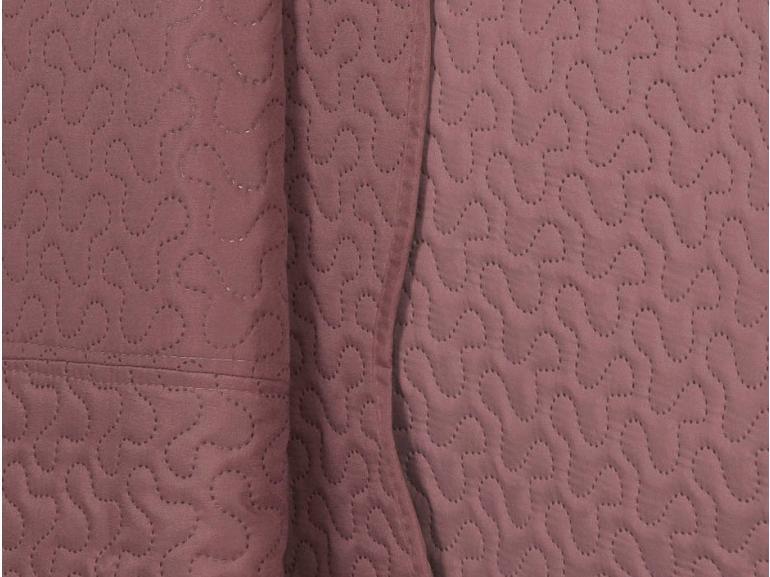 Kit: 1 Cobre-leito Casal Bouti de Microfibra Ultrasonic + 2 Porta-travesseiros - Polka Rosa Velho - Dui Design