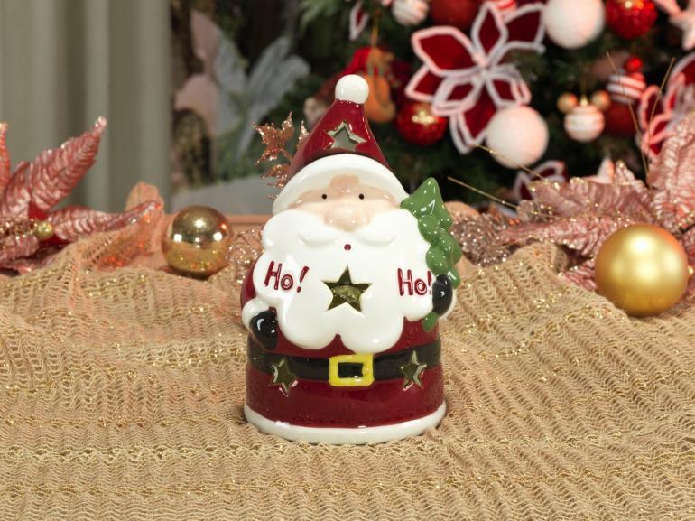 Porta Vela Natal de Cerâmica com 20cm de altura - Hohoho - Dui Design
