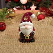 Porta Vela Natal de Cerâmica com 16cm de altura - Papai Noel - Dui Design