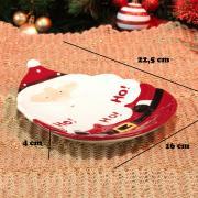 Prato Natal de Cerâmica Oval - Hohoho 22,5x16cm - Dui Design