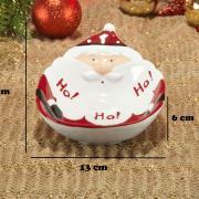 Prato Fundo Natal de Cerâmica Oval - Hohoho 19x13cm - Dui Design