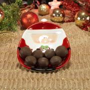 Prato Natal de Cerâmica Oval - Papai Noel 20x15cm - Dui Design