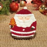 Prato Natal de Cerâmica Oval - Santa Claus 20x14,5cm - Dui Design
