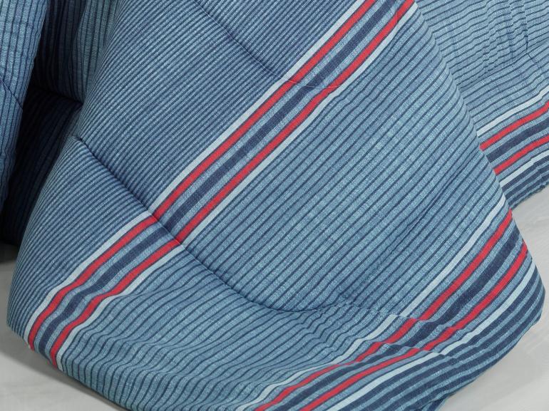 Jogo de Cama Queen Percal 180 fios - Presley Azul - Dui Design