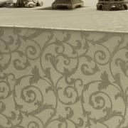 Toalha de Mesa Fácil de Limpar Retangular 6 Lugares 160x220cm - Princess Bege - Dui Design