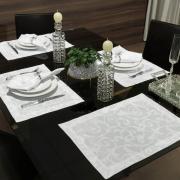 Jogo Americano 4 Lugares (4 peças) Fácil de Limpar 35x50cm - Princess Branco - Dui Design