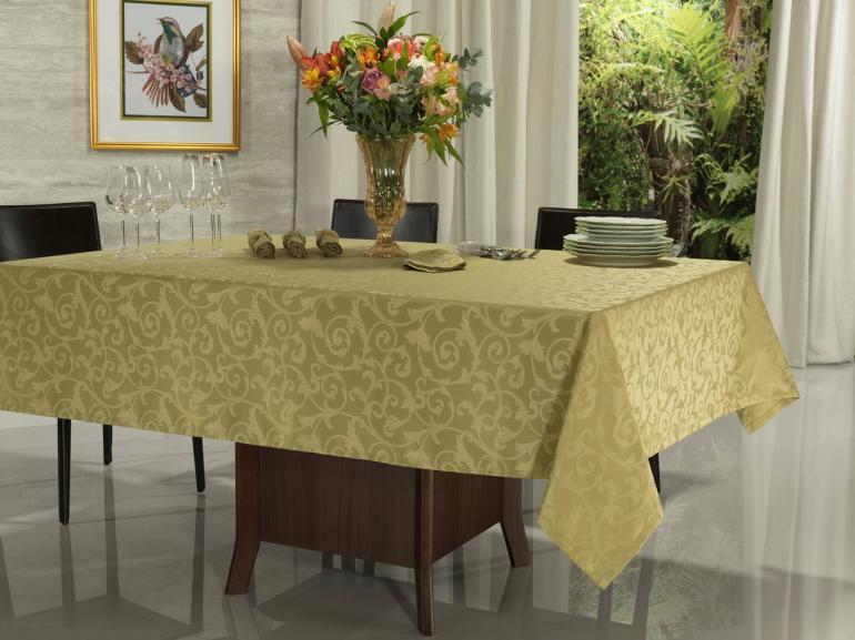 Toalha de Mesa Fácil de Limpar Retangular 6 Lugares 160x220cm - Princess Mel - Dui Design