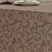 Toalha de Mesa Fácil de Limpar Retangular 6 Lugares 160x220cm - Princess Noz Moscada - Dui Design