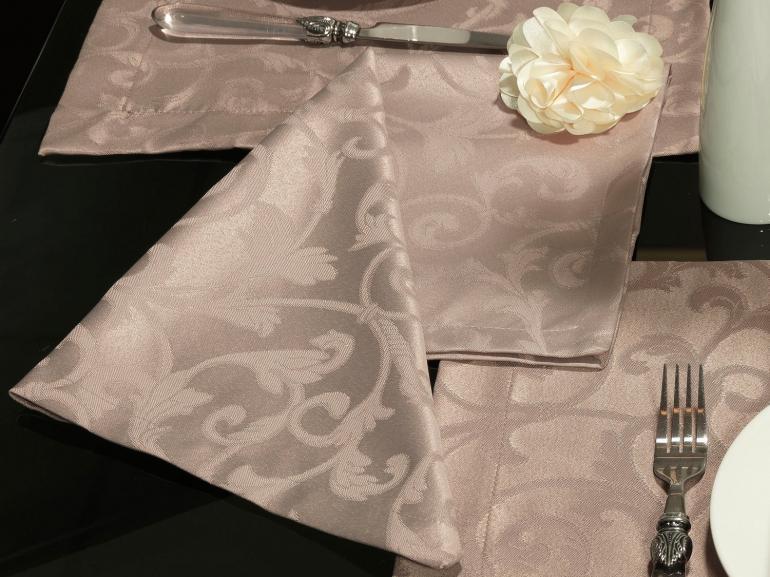 Kit: 4 Guardanapos 50x50cm - Princess Noz Moscada - Dui Design
