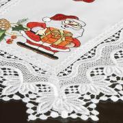 Jogo Americano Natal 4 Lugares (4 peças) com Bordado Richelieu 35x50cm - Prosperidade Branco - Dui Design