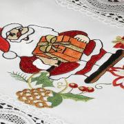 Trilho de Mesa Natal com Bordado Richelieu 40x85cm Avulso - Prosperidade Branco - Dui Design