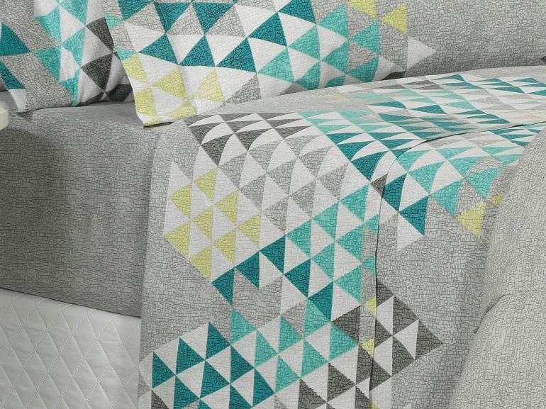 Jogo de Cama Solteiro 150 fios - Qatar Cinza - Dui Design