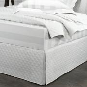 Saia para cama Box Matelassada com Tampão Queen - Quioto Matelada Branco - Dui Design