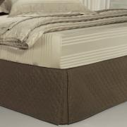 Saia para cama Box Matelassada com Tampão Solteiro - Quioto Matelada Café - Dui Design