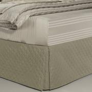 Saia para cama Box Matelassada com Tampão Solteiro - Quioto Matelada Caqui - Dui Design