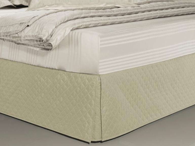 Saia para cama Box Matelassada com Tampão Solteiro - Quioto Matelada Marfim - Dui Design