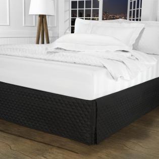 74f33501f Saia para cama Box Matelassada com Tampão Queen - Quioto Matelada Preto -  Dui Design
