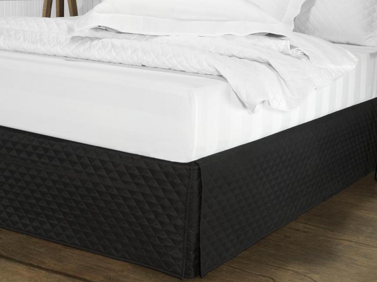 e2b952502 Saia para cama Box Matelassada com Tampão Casal - Quioto Matelada Preto - Dui  Design