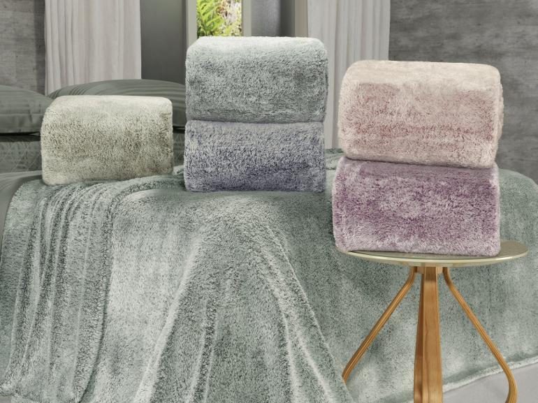 Cobertor Avulso Solteiro com efeito Pele de Coelho - Rabbit - Dui Design