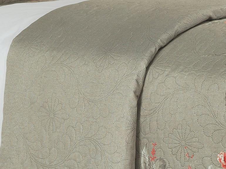 Kit: 1 Cobre-leito Casal Bouti de Microfibra Ultrasonic Estampada + 2 Porta-travesseiros - Rafaela Stone - Dui Design