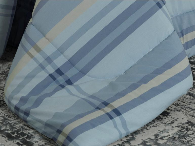 Jogo de Cama Queen Percal 200 fios - Ramsey Azul - Dui Design