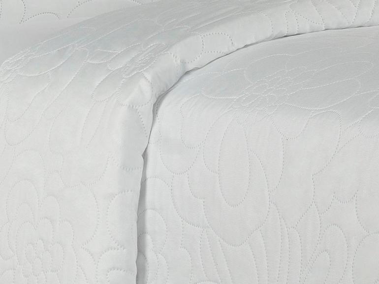 Kit: 1 Cobre-leito King Bouti de Microfibra Ultrasonic + 2 Porta-travesseiros - Rania Branco - Dui Design