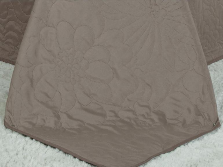 Kit: 1 Cobre-leito Casal Bouti de Microfibra Ultrasonic + 2 Porta-travesseiros - Rania Noz Moscada - Dui Design