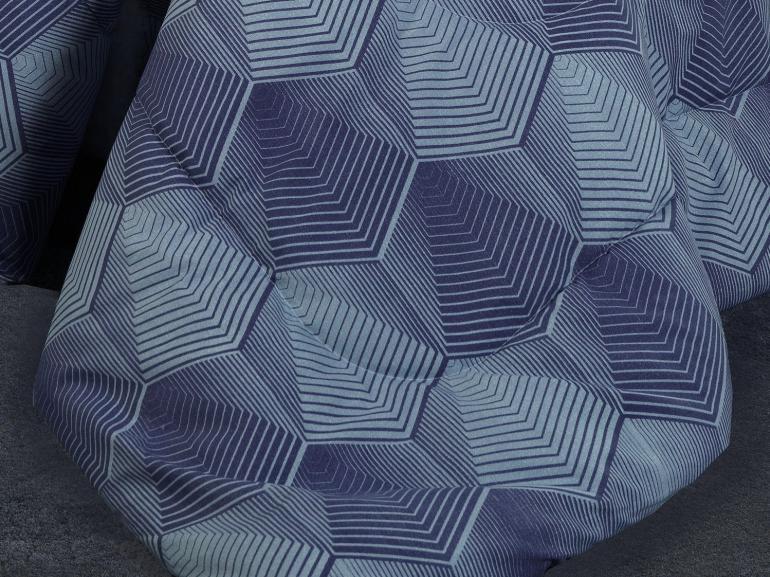 Jogo de Cama Queen Percal 200 fios - Raven Azul - Dui Design