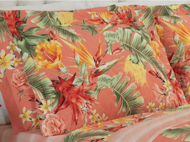 Kit: 1 Cobre-leito King + 2 Porta-travesseiros 150 fios - Rayana Salmão - Dui Design