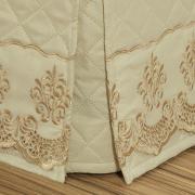 Saia para cama Box Matelassada com Bordado Inglês Casal - Requinte Pérola - Dui Design