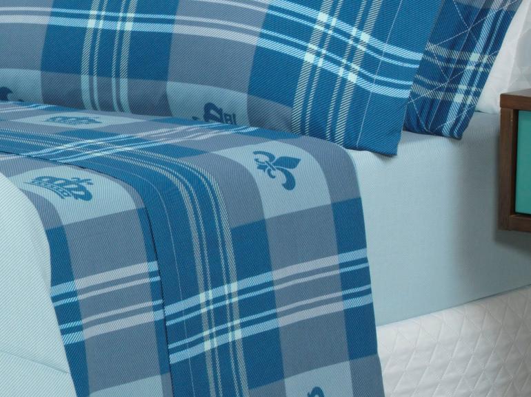Jogo de Cama Queen 150 fios - Richard Azul - Dui Design
