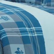Edredom Casal 150 fios - Richard Azul - Dui Design