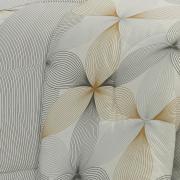 Jogo de Cama Casal 150 fios - Riske Cinza - Dui Design