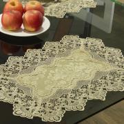 Jogo Americano 4 Lugares (4 peças) com Bordado Guipir Fácil de Limpar 35x50cm - Rochelle Caqui - Dui Design