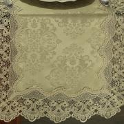 Trilho de Mesa com Bordado Guipir Fácil de Limpar 45x170cm Avulso - Rochelle Caqui - Dui Design