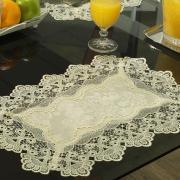 Jogo Americano 4 Lugares (4 peças) com Bordado Guipir Fácil de Limpar 35x50cm - Rochelle Pérola - Dui Design