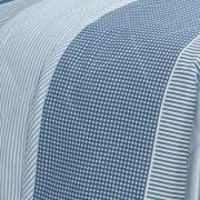 Kit: 1 Cobre-leito King + 2 Porta-travesseiros 150 fios - Rodolfo Azul - Dui Design