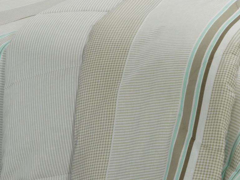 Jogo de Cama Casal 150 fios - Rodolfo Bege - Dui Design