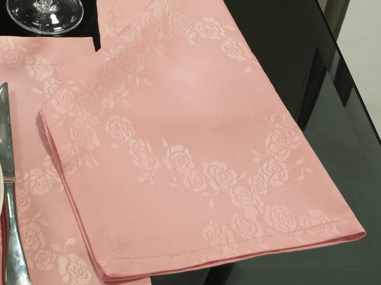 Kit: 4 Guardanapos 50x50cm - Romy Rosa Velho - Dui Design